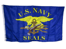 3x5 U.S. Navy Seals Military Blue Gold 150D Polyester Flag 3'x5' House Banner