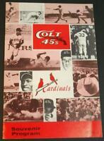1963 Houston Colt .45s v St. Louis Cardinals Souvenir Program Scorecard Unscored
