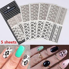 5 Sheets Tribal Nail Art Water Transfer Decals Aztec Sticker BORN PRETTY BP-W26