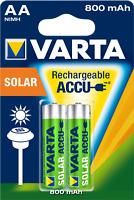 Varta Rechargeable Solar Akku AA LR06 MN1500 Mignon 1,2 V Stilo R6 800 mAh