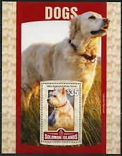 SOLOMON ISLANDS 2016 DOGS  SOUVENIR SHEET MINT  NEVER HINGED