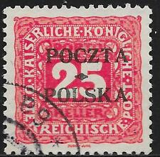 Poland stamps 1919 MI Due 5 signed Mickstein  CANC  VF