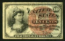 US Paper Money 1869 10c Fractional Currency NO RESERVE!