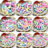 1Bag Mix Color Acrylic Large Hole Charm Jewelry Pony Beads For Kids Crafts DIY