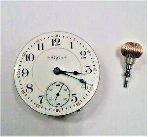 1898 ELGIN 17 jewel 18 size Pocket Watch Movement * Model 2 / B.W. Raymond