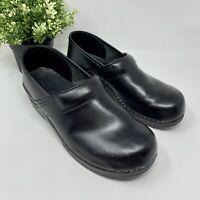 Dansko Professional Clogs Black Leather Comfort Nursing Slip On Shoes 41 10.5-11