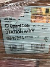 General Cable 2137147EAT GenSpeed Cat5e Outdoor CMX CMR White - 1,000ft