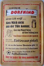 Blechschild Schild 20x30 cm - stolz ein Dorfkind zu sein Fussball Jugendclub (2)