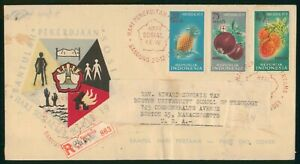 Mayfairstamps Indonesia 1961 Fruit Stamps Combo First Day Cover wwo1749