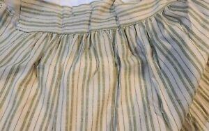 Vintage Camden Stripe Shir Banded Railroad King Sage Bed Skirt