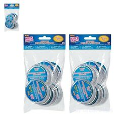 One Package Of 12 Pieces Design-A-Button 2-1/2in Clear Plastic 2 Pack