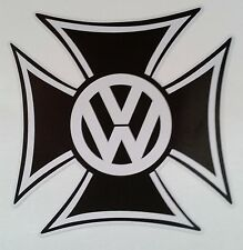 VOLKSWAGEN IRON CROSS Vinyl Sticker Decal VW KOMBI CAR VAN BUS GERMAN SAMBA