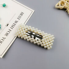 Pearl Hair Clip Barrettes Fashion For Women Handmade Hairpins Accessories