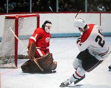 Nostalgia Hockey Print Photo Ed Giacomin Goalie Detroit Wings Vs J.Lemaire Eg5