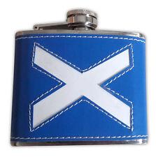 Scottish Blue Saltire 4oz Hip Flask Stainless Steel Men Wedding Gifts Present