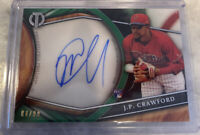 🔥 2018 Topps Tribute JP CRAWFORD GREEN ON CARD AUTO RC SP #4/99 PHILLIES 🔥