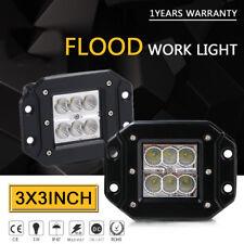 2PCS LED Work Light Bar driving fog light  flush mount offroad truck 3inch