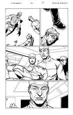 Steve Dillon ULTIMATE AVENGERS VOL 3 ISS 3 pg 17 CAPTAIN AMERICA IS A VAMPIRE Comic Art