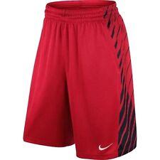NIKE Elite Power Up Basketball Shorts Red & Black 823901 Youth / Boys / Girls XL