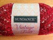 x1 Sundance Vintage Frill  Ruffle Yarn  #0396 Red   Acrylic/Nylone Blend  34yds