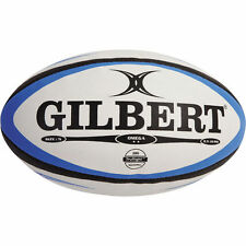 Gilbert Omega Match Blue Black Rugby Ball Size:3
