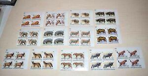 RR! Burundi WWF Nr. 1596/1608 tadellos ** VIERERBLOCK-Serie, Michel: 4000 Euro!!