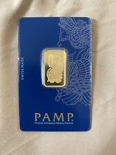 10 gram Gold Bar PAMP Suisse Lady Fortuna Veriscan® In Assay (Assay Card)