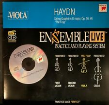 Viola: Ensemble Live String Quartet Haydn Op. 50, #6, Cd with Sheet Music