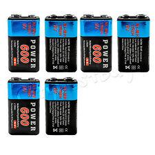 6 pcs Power 9V volt 600mAh Rechargeable Ni-MH NiMH Batteries 17R8H NEW