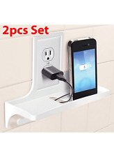 Wall Outlet Organizer Cover for iPhone Samsung Charger Tooth As Seen on TV 2 Pcs