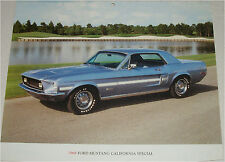 1968 Ford Mustang California Special car print (blue)