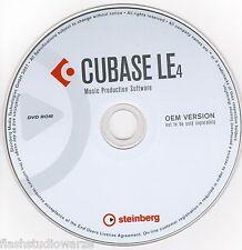 Cubase Le 4  Desktop Recording Studio - Music Production Software on DVD