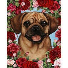 Roses Garden Flag - Fawn Puggle 191231