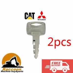 2pcs Mitsubishi and caterpillar Forklift Starter Ignition Keys A5160 91A07-01910
