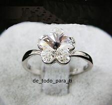 2f61b909c759 ANILLO CON FORMA DE FLOR CON PIEDRA BLANCA. CON ORO BLANCO (EP) TALLA