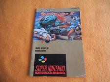 Street Fighter II  Anleitung Super Nintendo SNES Beschreibung Manual