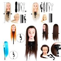 Practice Training Head Human Long Hair Salon Model Hairdressing Mannequin Doll S