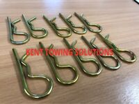Maypole 4mm High Quality Zinc Plated R Clips Securing Beta Clevis Pins Spring