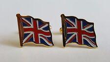 Cufflinks - UNION FLAG (Enamel & gilt metal)