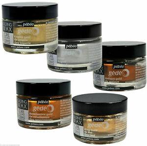 Pebeo Gedeo Gilding Wax - 30ml Jar IN 5 DIFFERENT COLOURS -  Art Craft Metallic