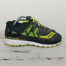 Saucony Mens Hurricane ISO 3 Running Shoes Gray/Black/Citron S20348-1 Size 7.5E