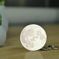 Moon Shaped Keychain 3d Glow In The Dark Luminous Pendant Gift Key Chain Charm