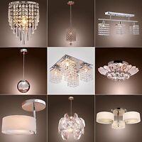 Vintage Modern Fixture Ceiling Light Lighting Crystal Pendant Chandelier Lamp HQ