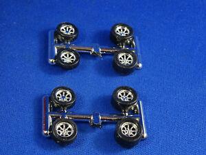 (2) Sets RRR TA's CHROME WHEELS AND TIRES  AURORA  T-JET DASH JL