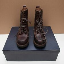 NEW Ralph Lauren Kingweston Italy Brown Vachetta Suede Leather Boots Shoes 10.5