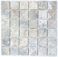 Noce jaune blanc travertin Mosaïque Boarder Tile 30 cm x 7.5 cm