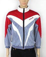 VINTAGE Adidas Originals Trifoglio VENTEX Velour Tuta Giacca Taglia S RARA (SW265)