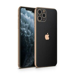 Black Textured Vinyl Skin Wrap Decal Sticker cover For Apple IPhone 11 Pro/Max