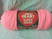 1 Skein Red Heart Super Saver Yarn~373 Petal Pink~7 oz~364 yds~4 Ply~New