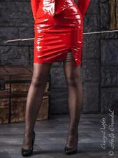 Jupe cuir rock rouge mini hüftrock taille 32-58 xs-xxxl